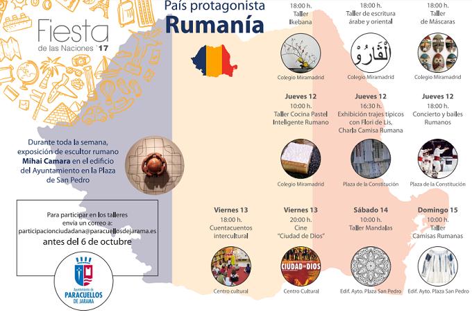 Rumanía, el país invitado en la segunda 'Fiesta de las naciones' de Paracuellos de Jarama, del 9 al 15 de octubre