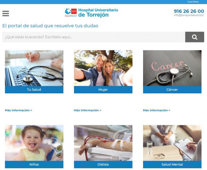 SaberdeSalud.com - un nou portal de informații de sănătate creat de Spitalul din Torrejón