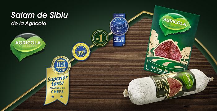Salamul de Sibiu de la Agricola, alături de alte două produse Agricola medaliate cu distincții la Bruxelles (iTQi)