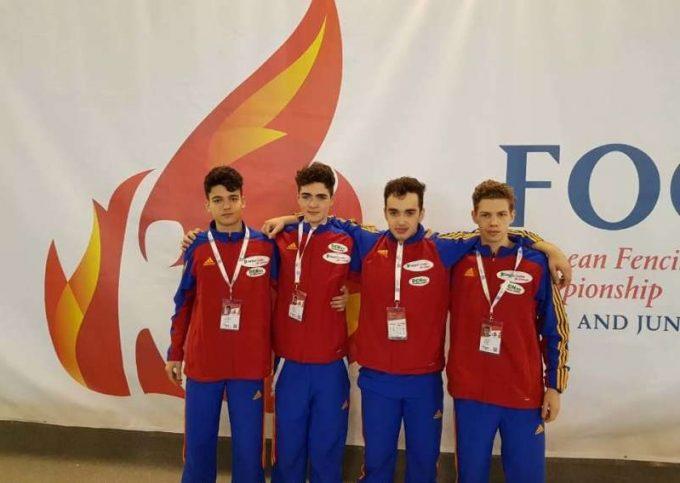 Scrimă: Echipa masculină de sabie, cea mai bună clasare a României la Europenele de cadeţi