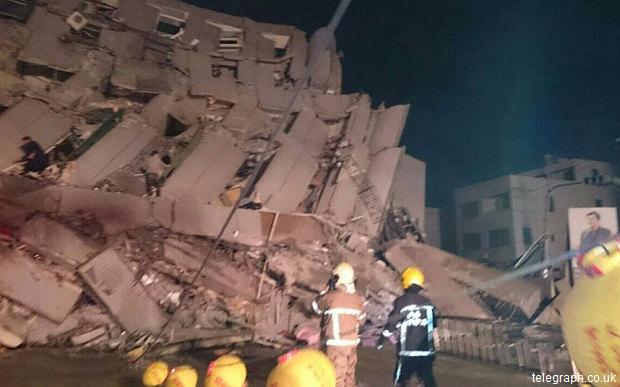 Seism-cu-magnitudinea-de-6.4-în-sudul-Taiwanului-Mai-multe-imobile-s-au-prăbușit