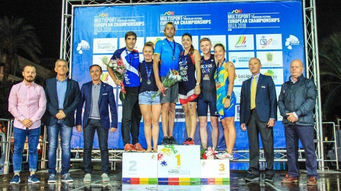 Sergiy Kurochkin y la rumana Antoanela Manac, campeon@s de Europa de Acuatlón en Ibiza Multideporte 2018