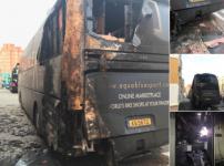 Spania: Autocarul Aqua Blue Sport, incendiat de un piroman