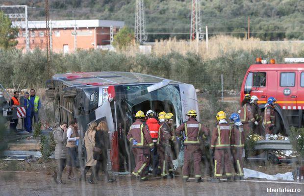 Spania: Două zile de doliu în Catalonia după accidentul de autocar în care a murit și o studentă româncă