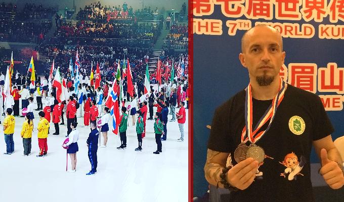 Sportivul Claudiu Mihăilă a câștigat 2 medalii pentru România la Campionatul Mondial de Arte Marțiale din China
