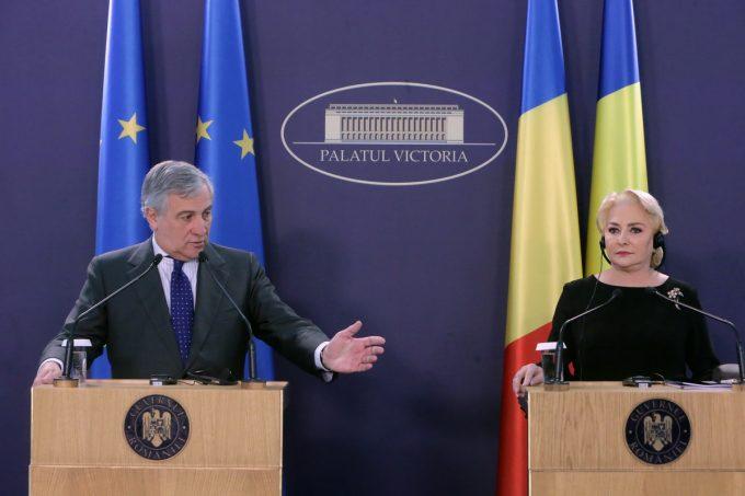 VIDEO – Tajani, la Bucureşti: Ne dorim ca prima preşedinţie a României la Consiliul UE să fie un succes