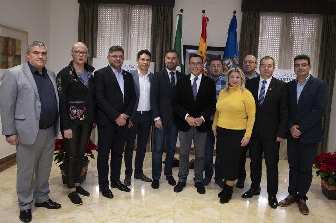 Una delegación de Calarasi, Rumanía, visita la provincia de Huelva para conocer el modelo productivo y establecer sinergias comerciales