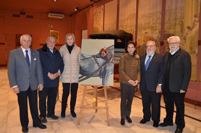 Una rumana – ganadora del concurso de carteles de la Exhibición de Enganches de Sevilla