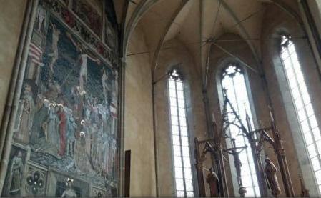 """Unic în România: """"Fresca Răstignirii"""", șapte ipostaze ale Mântuitorului Iisus Hristos într-o pictură"""
