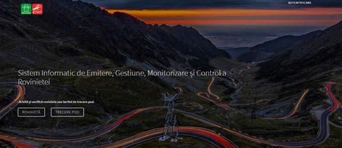 Utilizatorii portalului www.erovinieta.ro pot primi notificări prin e-mail înainte de expirarea rovinietei
