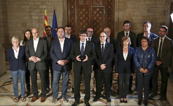 VIDEO: Referendum în Catalonia - Președintele Carles Puigdemont proclamă victoria secesioniștilor