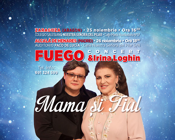 Vino și TU la un Concert excepțional în Spania cu îndrăgiții artiști Fuego și Irina Loghin