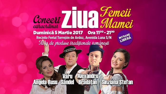 Vino să sărbătorim Ziua Femeii și Ziua Mamei într-un concert extraordinar în Torrejón de Ardoz-Madrid