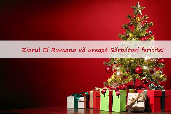 Redacția Ziarului El Rumano vă urează Sărbători fericite!