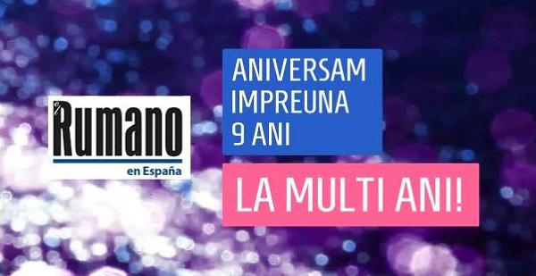 Ziarul Românilor din Spania, Periodico El Rumano.es împlinește 9 ANI: LA MULȚI ANI!