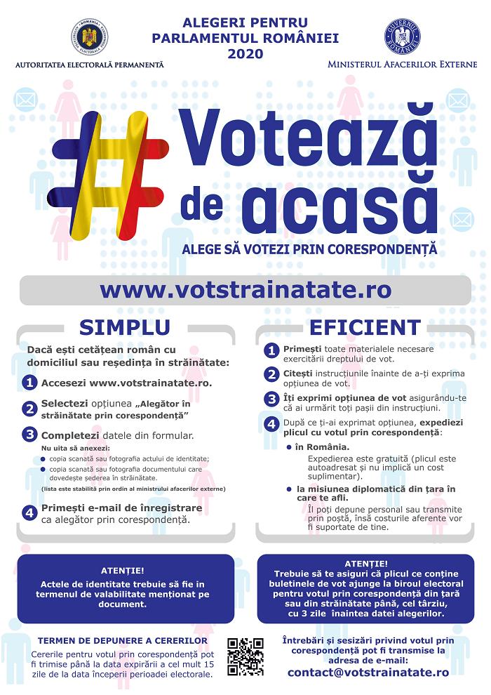 Înregistrează-te până la 21 septembrie 2020! Votează de Acasă pentru Alegerile pentru Parlamentul României 2020 1