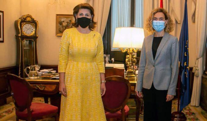 Întrevederea ambasadorului României în Regatul Spaniei cu președintele Congresului Deputaților spaniol