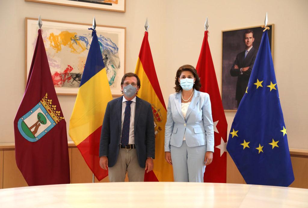 Întrevederea ambasadorului României în Regatul Spaniei cu primarul Madridului