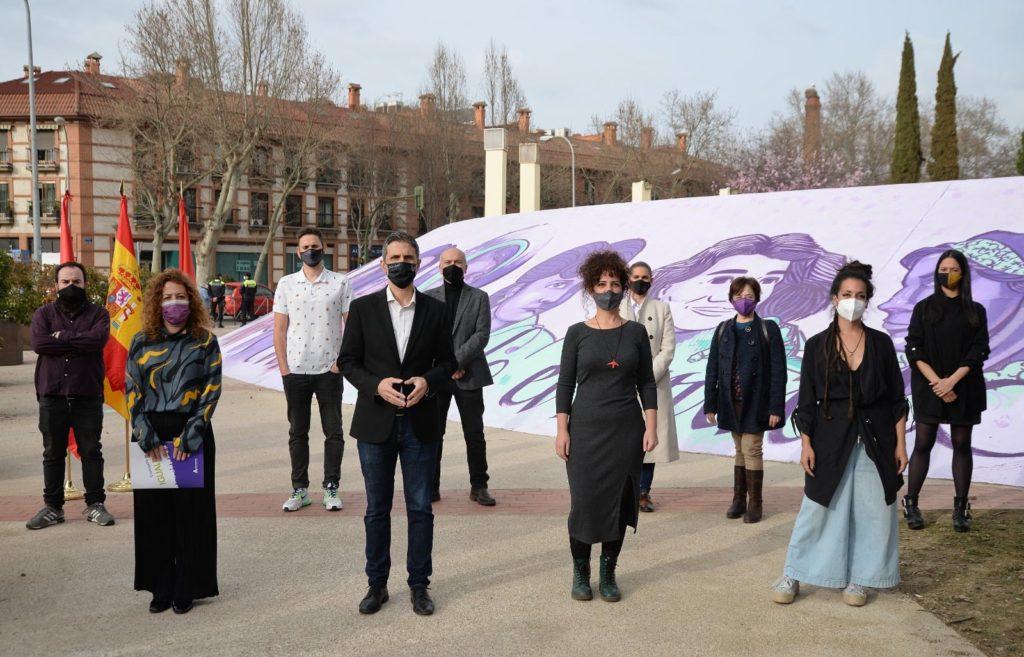 """""""Mujeres cambiando el mundo"""", nueva pintura mural en el Auditorio Municipal Manuel Azaña"""