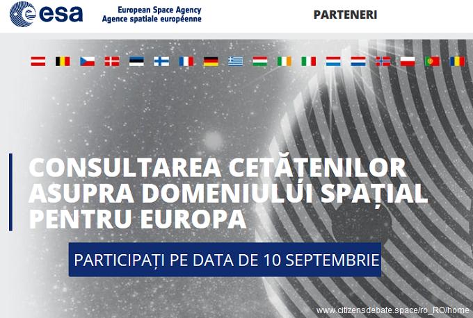 10 septembrie 2016 - Consultarea Cetățenilor asupra Domeniului Spațial pentru Europa