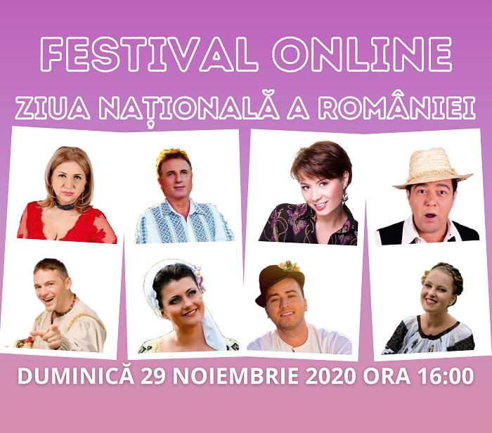 29 Nov. Ora 16.00: Vizionează în Premieră Festivalul Online de Ziua Națională a României