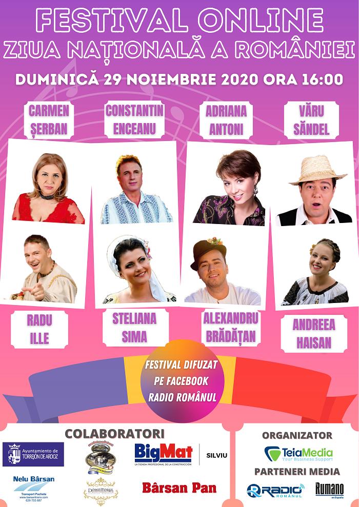 29 Nov Ora 16 00 Vizionează în Premieră Festivalul Online de Ziua Națională a României