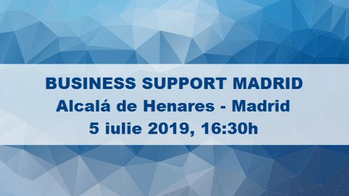 5 Iulie: Un Eveniment pentru Afacerea Ta - BUSINESS SUPPORT MADRID, în Alcalá de Henares, Madrid