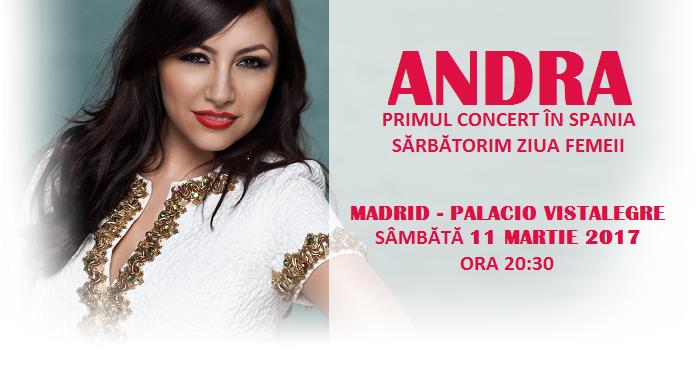 ANDRA te invită la un SUPER CONCERT pe 11 MARTIE în MADRID PALACIO VISTALEGRE
