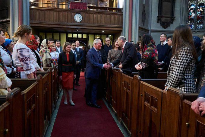 ASR Prințul de Wales a participat la o slujbă ortodoxă la Londra, alături de câteva sute de români din Marea Britanie