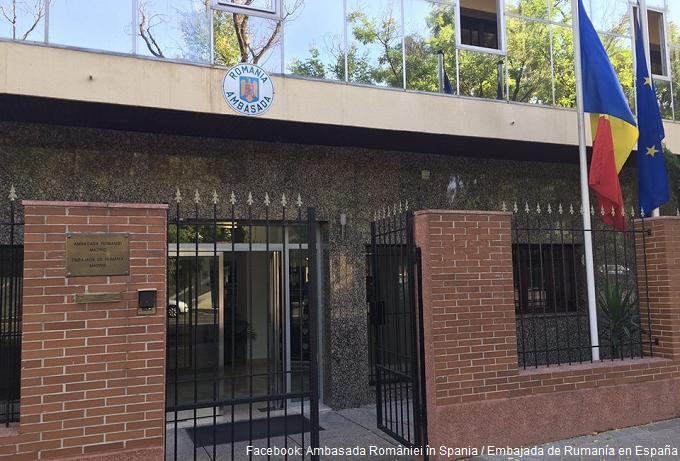 Activitatea ambasadei din Spania suspendată temporar