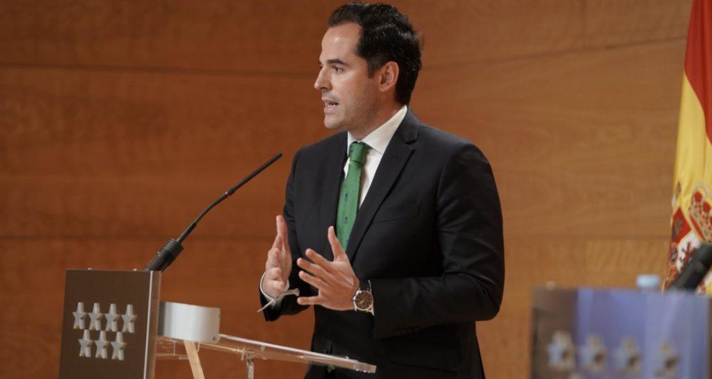 """Aguado: """"La recuperación económica de las CCAA depende de la recuperación de movilidad"""""""