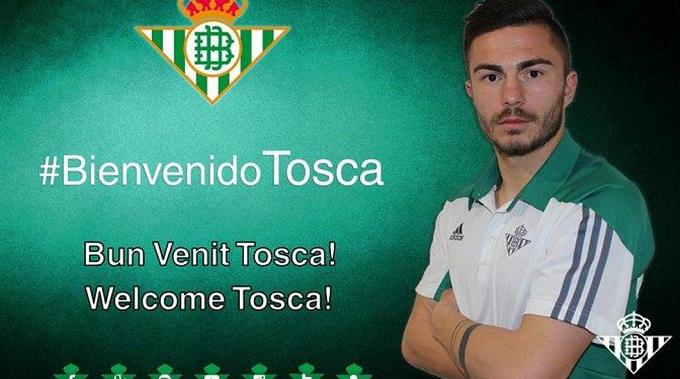 Alin Tosca firma con el Real Betis hasta 30 de junio de 2021