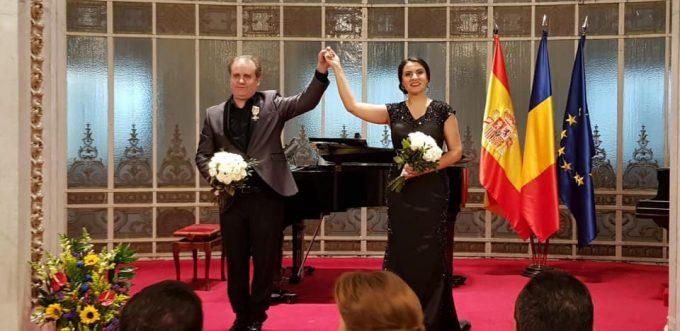 Ambasada României în Spaniei a marcat 101 ani de la Marea Unire, alături de pianistul Josu de Solaun și soprana Rodica Vică