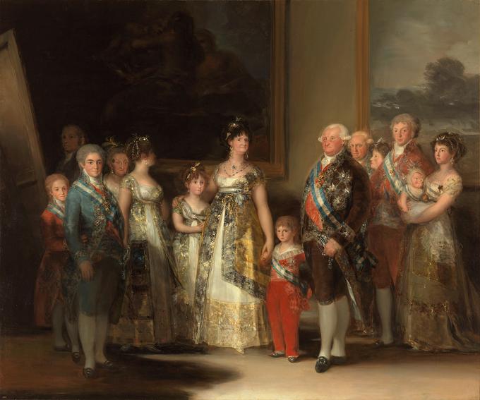 Artistului spaniol Francisco Goya și lucrarea ''Carol al IV-lea al Spaniei şi familia sa'' (''La familia de Carlos IV'')