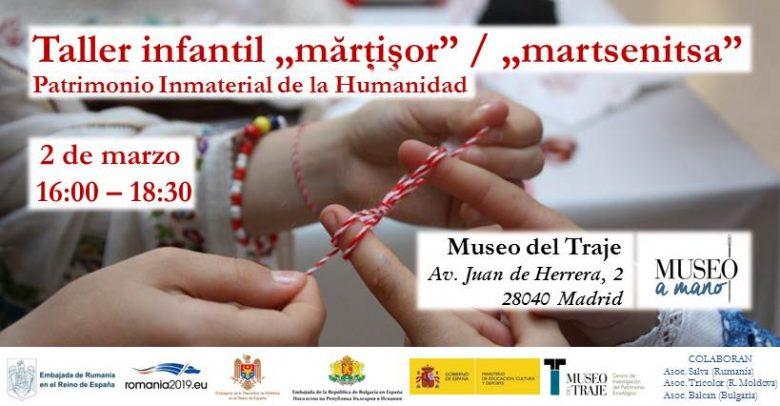 Atelier pentru copii de creat mărţişoare la Muzeul Costumului din Madrid
