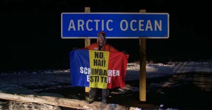 """Avram Iancu - locul al III-lea la ultramaratonul """"6633 Arctic Ultra"""" de la Cercul Polar de Nord"""