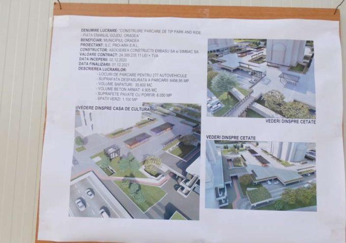 Bihor: Primăria Oradea construieşte, din bugetul local, o nouă parcare subterană de tip park and ride