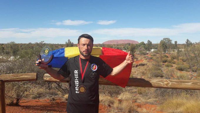 Botoşani: Ceremonie de întâmpinare a pompierului Iulian Rotariu, câştigatorul ultramaratonului 'The track'