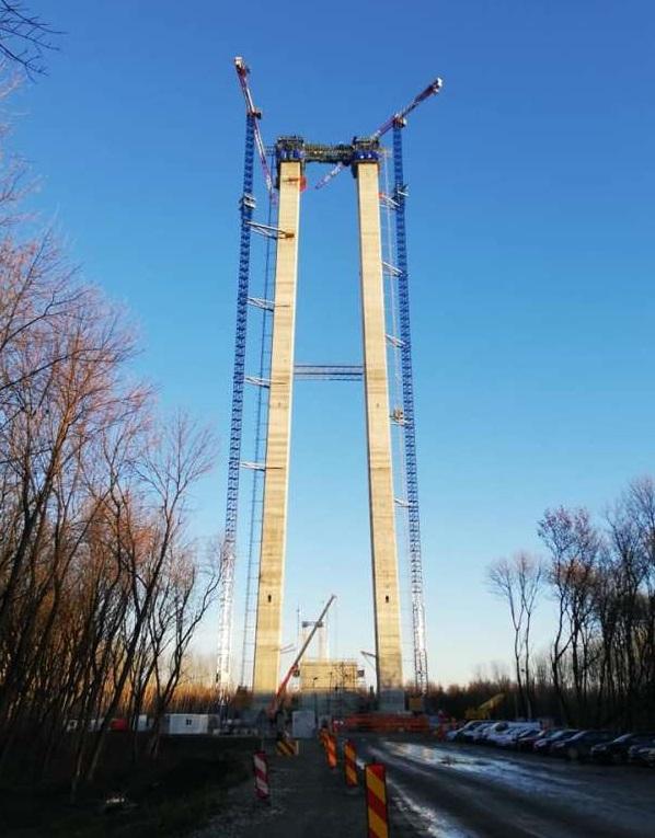 Brăila: Firele de oţel din cablul de ancoraj de la Podul peste Dunăre pot înconjura Pământul de două ori