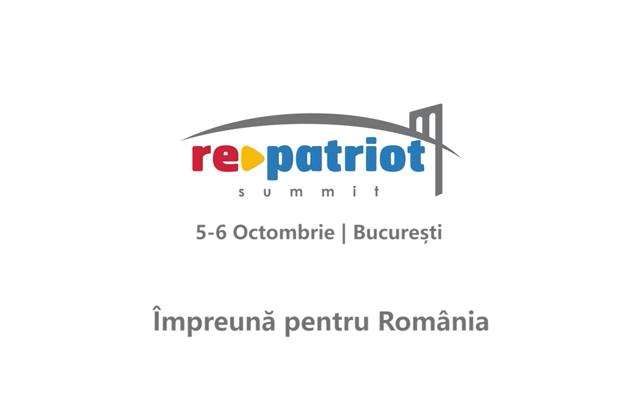 Business Summit – Împreună pentru România, un eveniment marca RePatriot în 5-6 octombrie la București