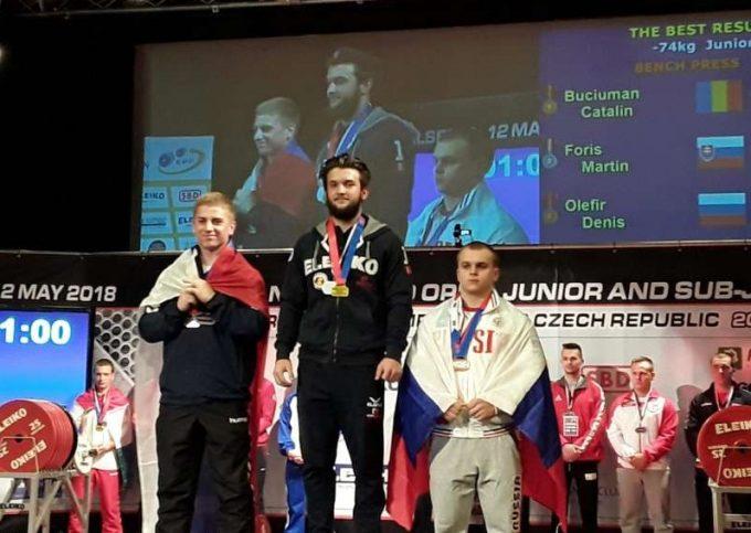 Cătălin Buciuman, (CS Unirea Alba Iulia), medaliat cu aur la CE de powerlifting din Cehia