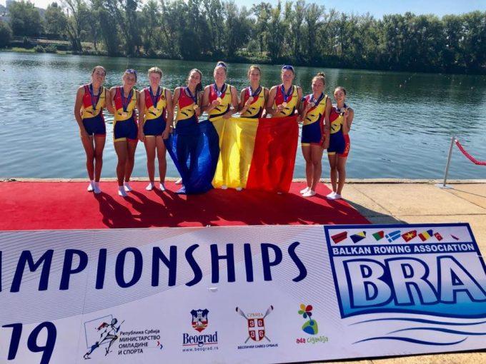 Canotaj: România a câştigat 15 medalii, dintre care şapte de aur, la Balcaniada de Juniori I şi II