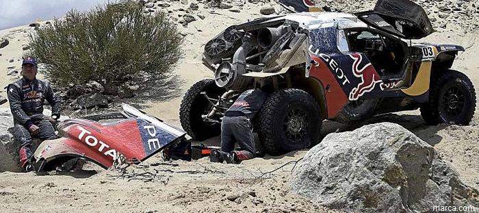 Carlos Sainz dice adiós al Dakar