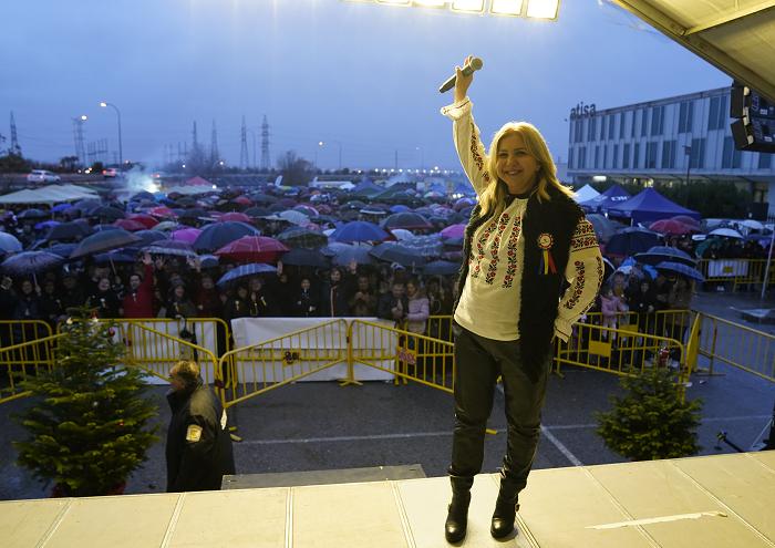 Carmen Șerban a încântat românii din Spania de Ziua Națională a României, la Madrid