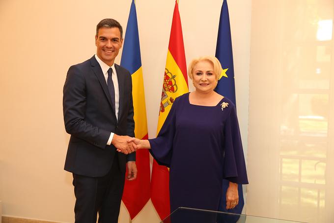 VIDEO: Ce subiecte au fost discutate în întrevederea dintre premierul Dăncilă și președintele guvernului Spaniei, Pedro Sánchez