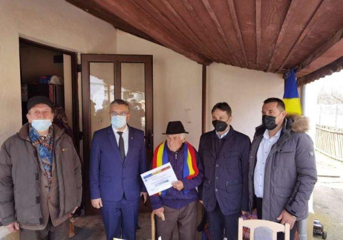 Cel mai în vârstă veteran de război din Alba, omagiat la 104 ani