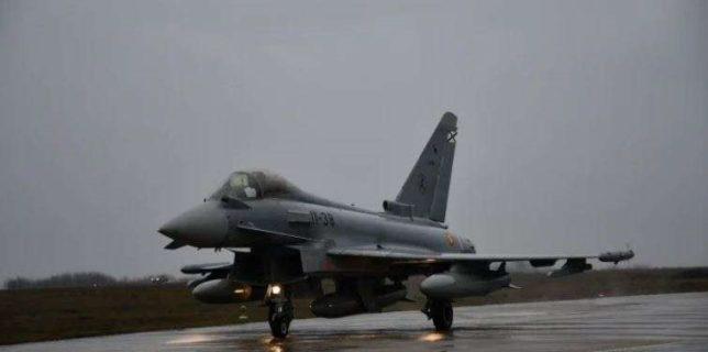 Ceremonie de certificare a detaşamentului spaniol aflat în misiune în România, la Baza 57 Aeriană Mihail Kogălniceanu