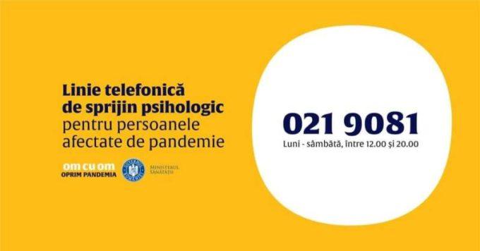 Cluj: UBB a înfiinţat o linie telefonică de suport psihologic pentru persoanele afectate de COVID-19