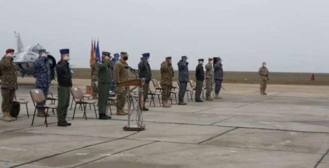 Constanţa: Ceremonial de certificare NATO a Forţelor aeriene spaniole
