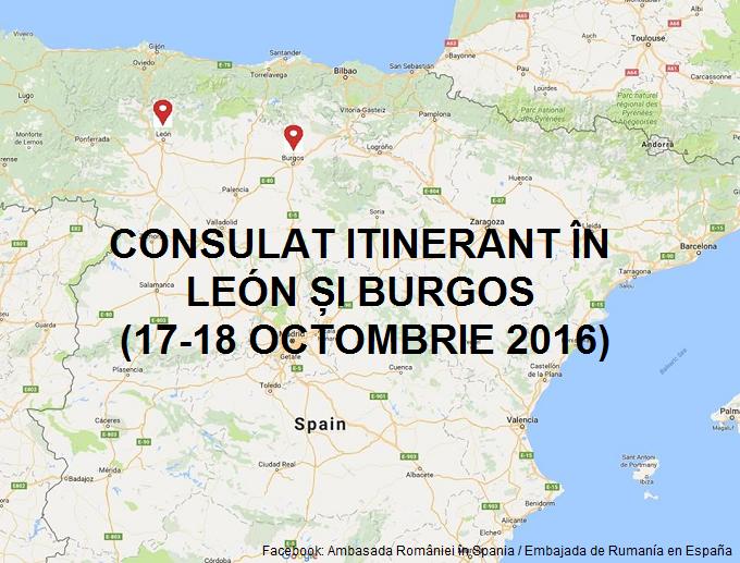 Consulat itinerant în León și Burgos (17-18 octombrie 2016)